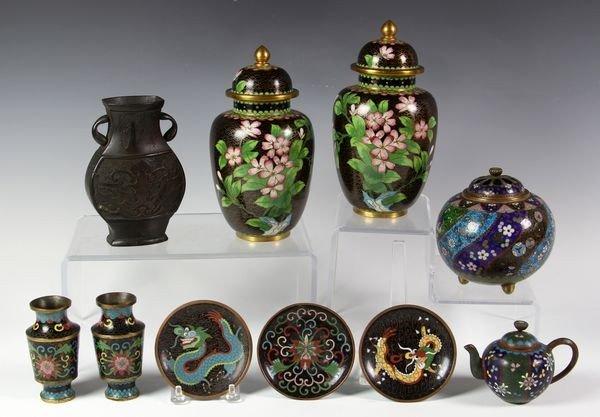 3024: Collection of Ten Cloisonné Items