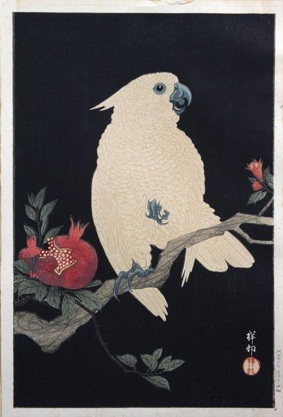 3021: Ohara Shoson, Ca. 1920's Woodblock Print