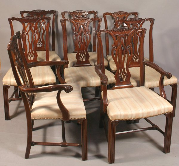 9: 20TH CENTURY MAHOGANY DINING CHAIRS BY HICKORY