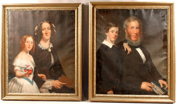 13: PAIR OF SIGNED J.C.RITCHIE PORTRAITS