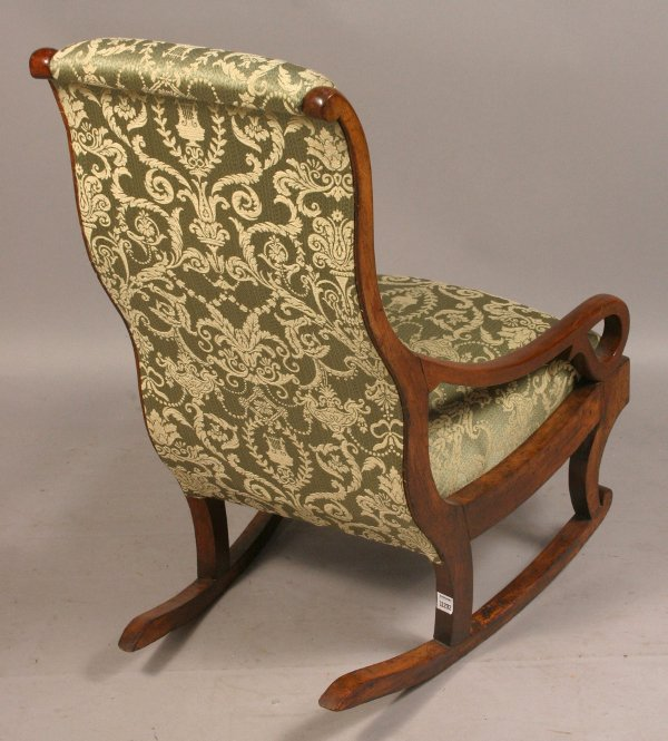 380: 19TH CENTURY UPHOLSTERED ROCKING CHAIR - 2