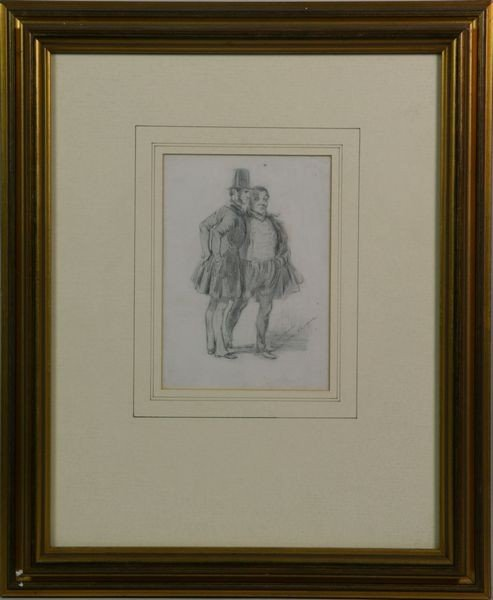 6002: Giovanni, Two Men, Pencil Drawing