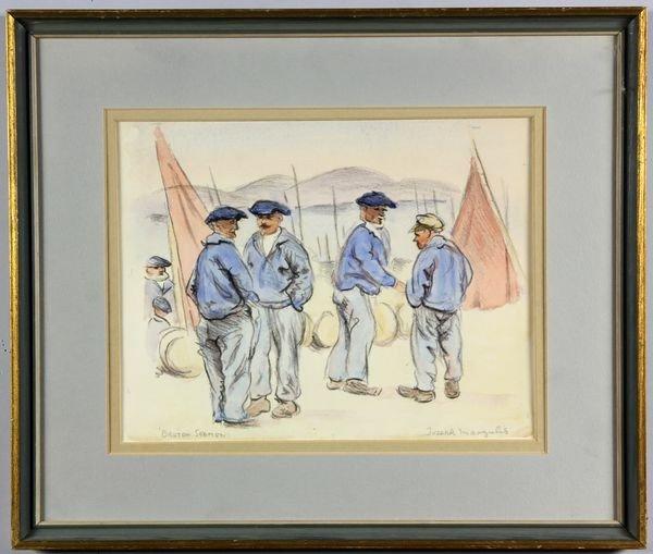 """6015: Margulies, """"Breton Seaman"""", W/C"""