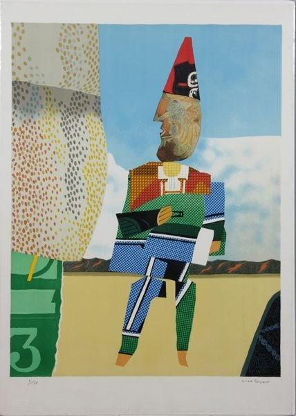"6089:  Papart, ""Clown, Three"", Lithograph"