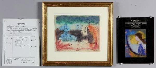 """6210: Feininger, """"Traumdorf"""", W/C"""