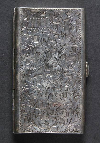 4025: 1900's Sterling Cigarette Case