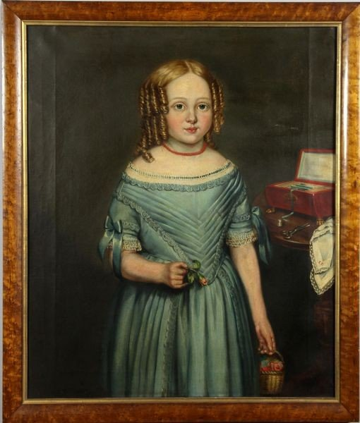 8121: 19th C. Portrait of a Girl