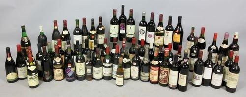 9016: Lot of 65 Wine Bottles