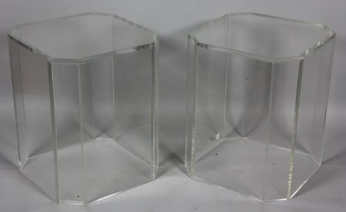 9017: Pair of Lucite Tables