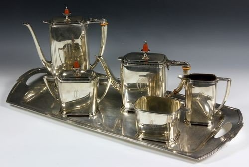 9090: Sterling Silver Tea and Coffee Set