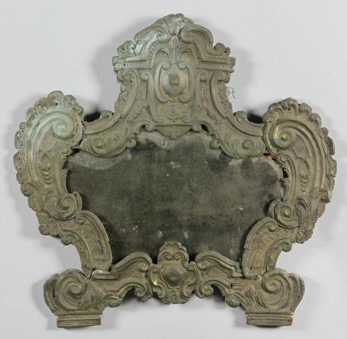 9014: Italian Brass Framed Mirror