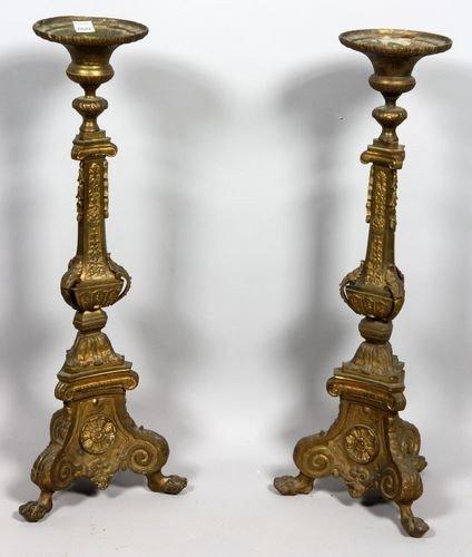 9080: Pair of Altar Candlesticks