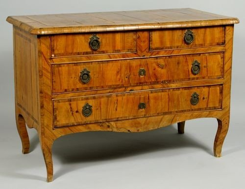 9088: 18th C. Italian Marquetry Inlaid Chest