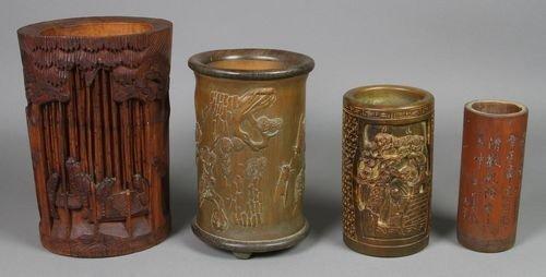 7022: Chinese Bamboo Brush Pots