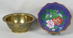 Two (2) 19th C. Chinese Cloisonne Bowls