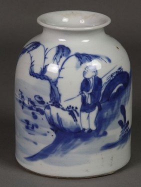 7023: Chinese 19th C. Blue and White Vase