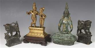 2301 Lot of Chinese Bronze Figures