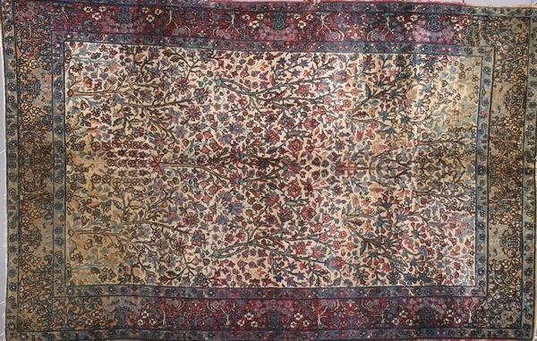 3010: Antique Lavar Kerman Rug