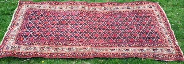 "3021: Late 19th Century Tribal Rug, 6' 5"" x 3'"