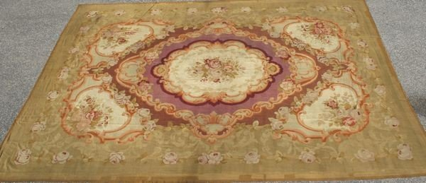 3052: 19th C. French Aubusson Rug