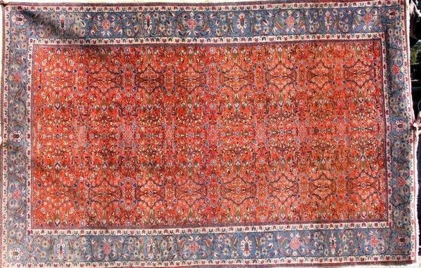 3057: Semi-antique Persian Tabriz rug