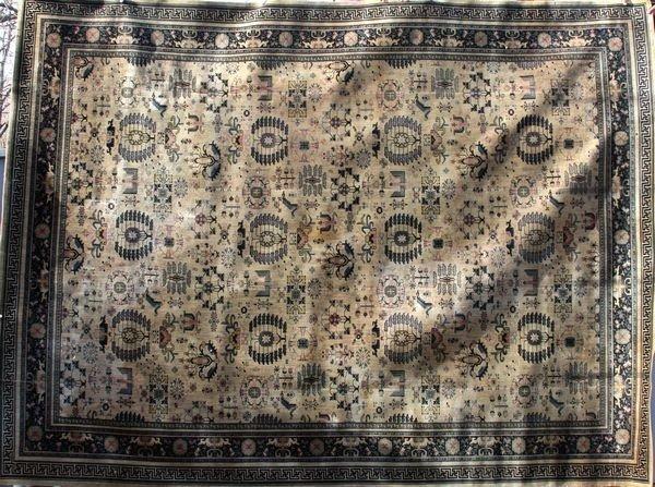 """3064: Machine-woven Oriental Rug, 11' x 14' 9"""""""