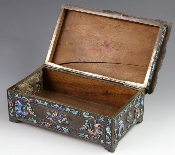 Chinese 19th C. Enameled Jewelry Box - 2