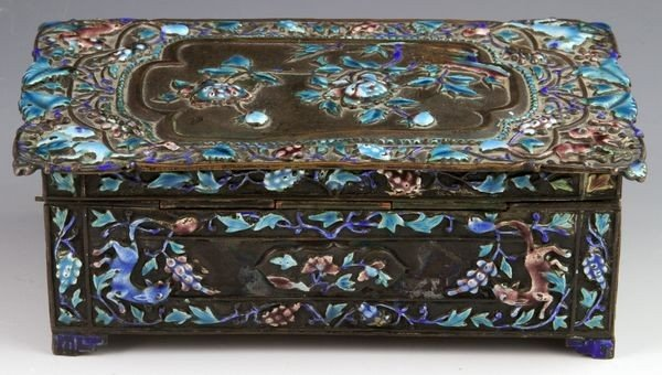 Chinese 19th C. Enameled Jewelry Box - 3