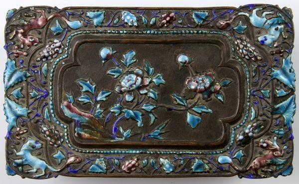 Chinese 19th C. Enameled Jewelry Box - 4