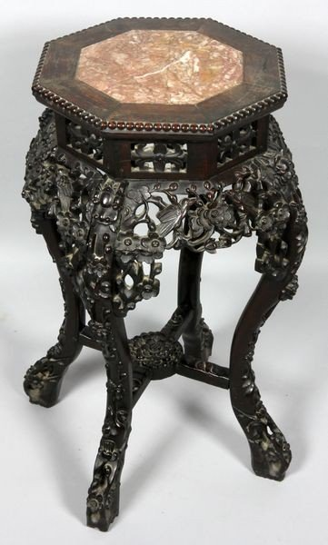 Chinese 19th C. Rosewood Stand