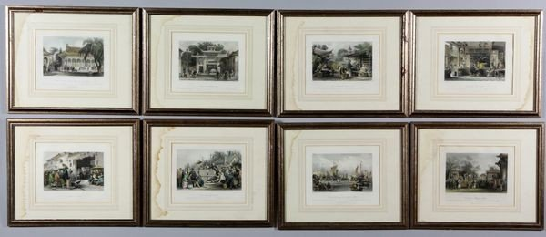 Eight (8) Lithographs of Chinese Subject