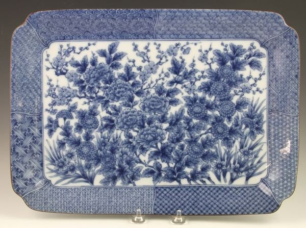 Chinese 19th C. Blue and White Platter
