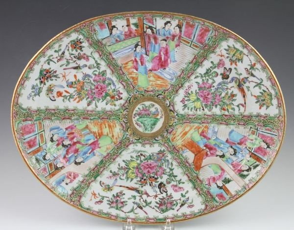 Chinese 19th C. Rose Medallion Plate