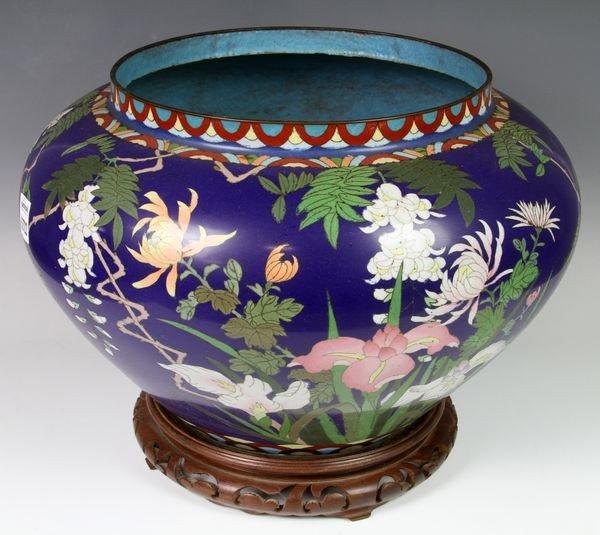 Japanese 19th C. Cloisonné Jar