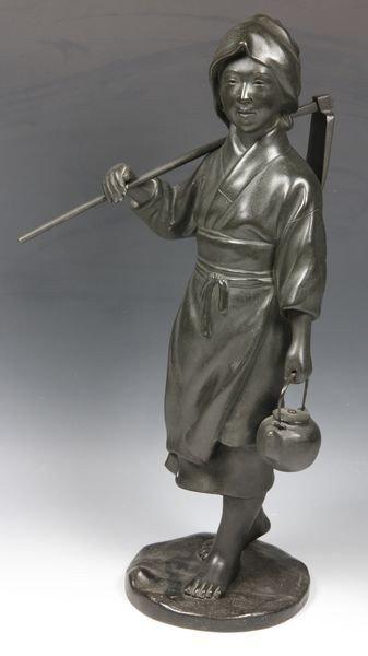 Japanese 20th C. Bronze Woman