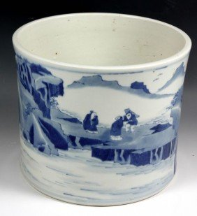 Chinese 19th C. Brush Pot