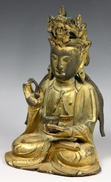 Chinese Ming/Qing Chinese Bronze Buddha