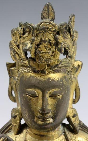 Chinese Ming/Qing Chinese Bronze Buddha - 2