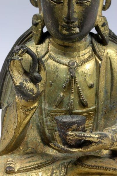 Chinese Ming/Qing Chinese Bronze Buddha - 3