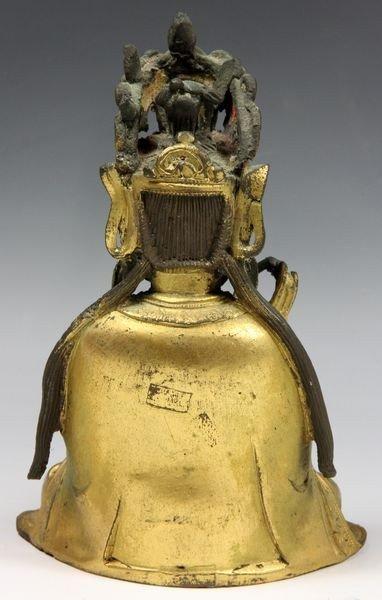 Chinese Ming/Qing Chinese Bronze Buddha - 4