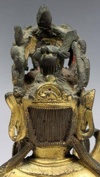 Chinese Ming/Qing Chinese Bronze Buddha - 5
