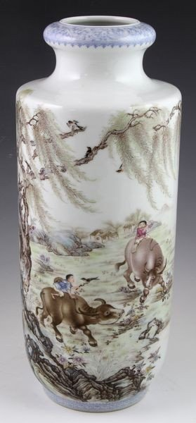 Chinese Republic Period Famille Rose Vase