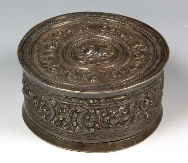 Chinese 19th C. Silver Jewelry Box