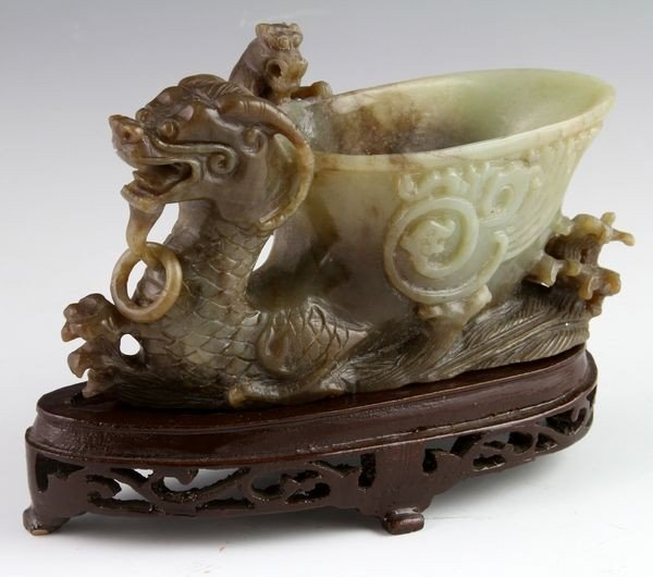 Chinese 20th C. Jade Cup