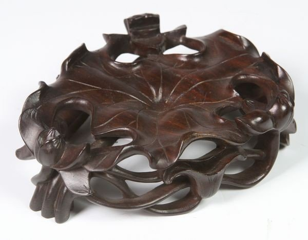 Chinese 19th/20th C. Carved Wood Stand