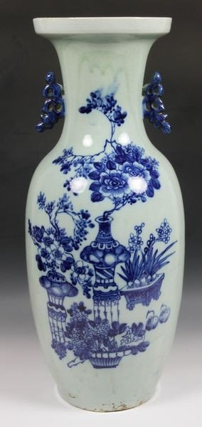 Chinese 19th C. Blue and White Vase