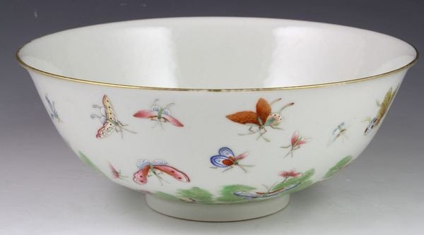 Chinese 20th C. Famille Rose Bowl