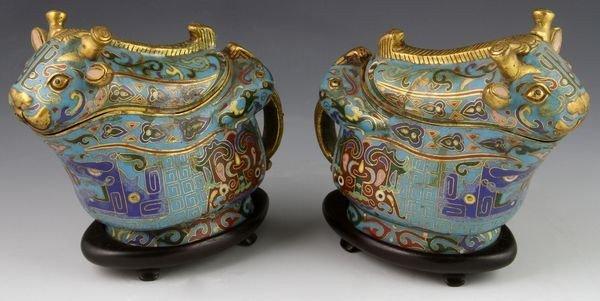Chinese 19th C. Cloisonné Boxes