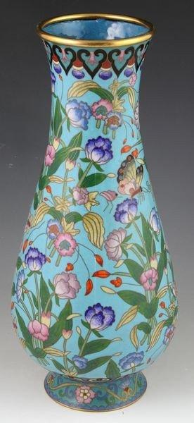 Chinese 19th C. Cloisonné Vase