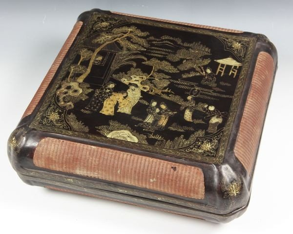 Chinese 18th C. Gilt Lacquered Box